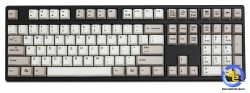 Bàn phím cơ Ducky One PBT Grey White Keycaps Brown switch
