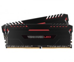 Ram Corsair VENGEANCE® LED 16GB (2 x 8GB) DDR4 2666MHz C16 Memory Kit - Red LED (CMU16GX4M2A2666C16R)