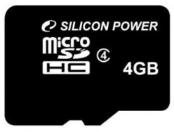 Silicon Power - Micro SDHC Card 4GB Class 4