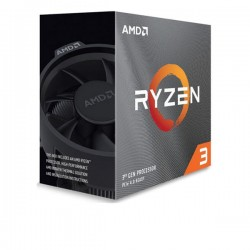 CPU AMD Ryzen 3 3100, Wraith Stealth cooler/ 3.6 GHz (3.9 GHz with boost) / 18MB / 4 cores 8 threads / 65W / Socket AM4